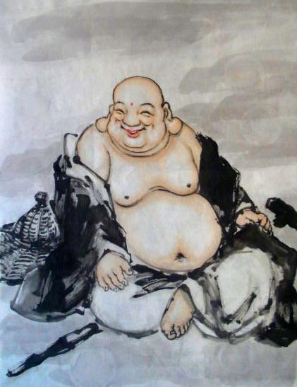 绘画艺术中的《弥勒佛》 - 石墨閣藝術長廊 - 石墨閣藝術長廊--雨濃的博客