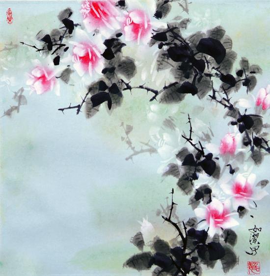高中生中国梦绘画