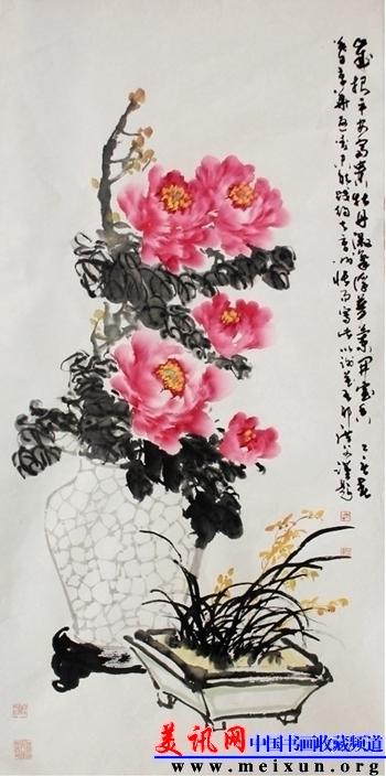清丽醇厚 盛浩德书画艺术欣赏 - 美讯网 中国书画收藏图片