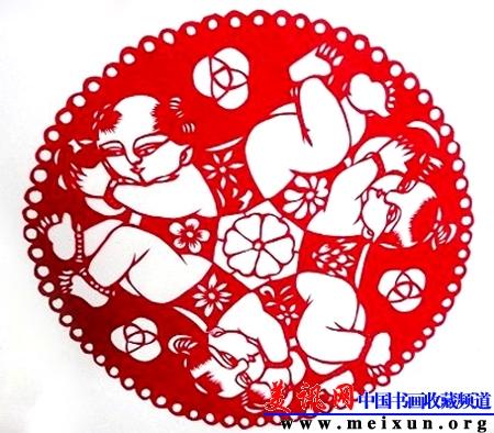 艺术家龙玲剪纸作品欣赏