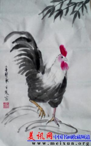 动物 国画 鸡 300_478 竖版 竖屏